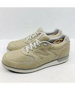 New Balance 985 Mens Walking Shoes Full Grain Tan Leather Sneakers SIze 12 - $49.46