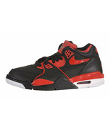 Nike Air Flight '89 Grade School Black/University Red-Cool Grey-White 31... - $85.00