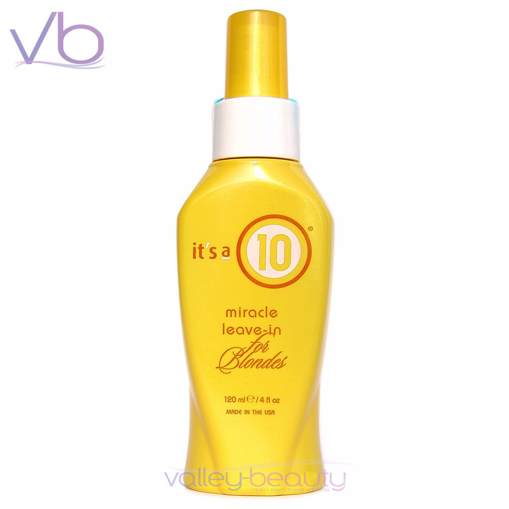 Primary image for IT'S A 10 Miracle Leave In For Blondes 120ml All In One Treatment, its a 10