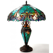Table Lamps For Living Room Bedroom Dale Tiffany Light Turquois Amber Ar... - $229.95