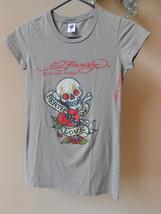 Ed Hardy Audigier Death of Love Crystal Bling Rhinestone Army Cap Sleeve... - $14.70