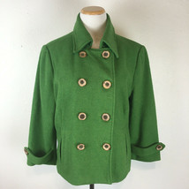 Cabi Women's Classic Cropped Kelly Green Peacoat Style 659 Size 12 - $36.28