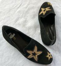 Michael Kors Femmes Chaussures Noir en Cuir Caoutchouc Semelle Broderie Size 6.5 image 4