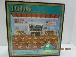 "Jigsaw Puzzles 1,000 Pc MATTEL ""Befroe the 9 O'Clock Bell 22x28 J Woost... - $9.90"