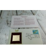 Northern Sea Lion 22kt Plated Golden Replica Stamp 1990 First Day Stamp  - $19.79