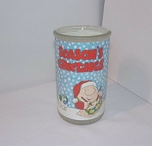 """Vtg 80s Ziggy Christmas Candle Jar Holder SEASONS GREETINGS 5"""" Frosted G... - $19.75"""