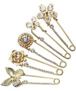 Top Plaza Mothers Day Gift Pack Of 5 Women Fashion Rhinstone Crystal Acc... - $35.41