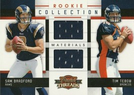 2010 Panini Threads Rookie Collection Materials #15 Sam Bradford/Tim Teb... - $15.99