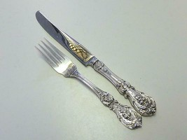 FRANCIS I Reed & Barton Sterling Silver Youth Child Fork & Knife Set Mon... - $64.35