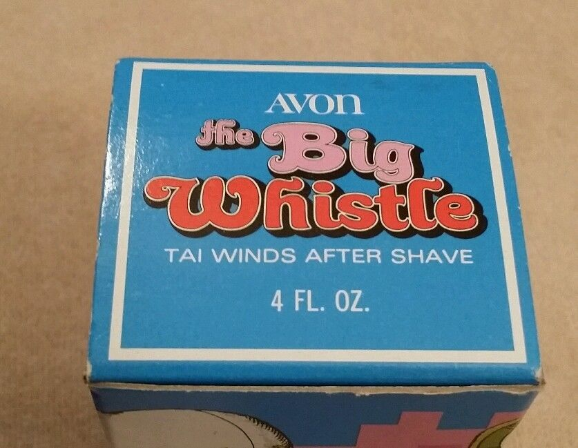 Vintage Avon The Big Whistle 1972 After Shave Cologne Bottle With  Original Box
