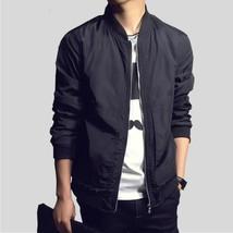 Men's Jacket New Arrivals SpringFashion Long Sleeve Male Coats Slim Fit ... - $39.78