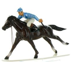 Hagen Renaker Specialty Horse with Jockey Racing Ceramic Figurine image 12