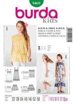 Burda Childrens Sewing Pattern 9469 - Dress, Shirt & Skirt Sizes: 7-13 - $8.33