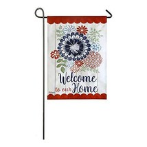 Meadow Creek Americana Floral Decorative Suede Garden Flag- 2 Sided,12.5... - $14.84