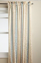"Whitfield Stripe Curtain Panel, 52"" wide by 63"" long, Buttercream, Lorraine - $16.99"