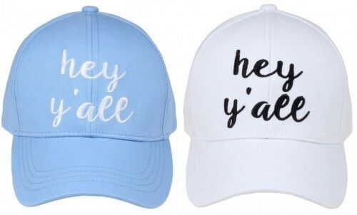 "Primary image for ""HEY Y'ALL"" - CC Embroidered Adjustable Ball Cap Hat - OS Fits Most"