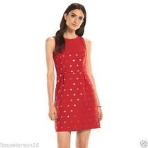 ELLE™ Red  Dot A-Line Sleevelsss Dress Women's Sz. 12 NWT MSRP$64 VERY N... - $29.35