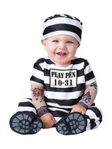 Incharacter Time Out Jail Inmate Infant Halloween Baby Toddler Costume 1... - €24,95 EUR