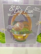 INFLATABLE EASTER BASKET 8 ft Wide Outdoor Yard Decoration Large Lighted... - $184.28