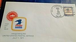 West Lebanon NY, 1st Day Inaugerating USPS Envelope,Jul 1 1971, 8 cent s... - $3.95