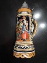 """Vintage Lidded German Stein """"Jahre Vergehen/Durst Bliebt Bestehen"""" Great! - $33.20"""