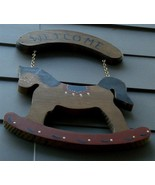 Nice Hand Made Wooden Welcome Plaque, VG COND - $16.82
