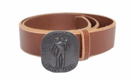 NEW LEVI'S MEN'S STYLISH CLASSIC PREMIUM GENUINE LEATHER BELT BROWN 11LV02UG