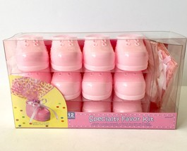 Pink Baby Bootie Favor Kit 12ct Baby Shower Party Gift Girl Plastic Shoe... - $14.84
