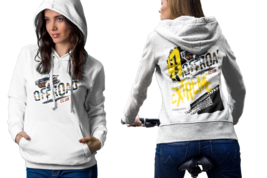 Extreme Off-Road Racing Womens White Classic Hoodie - $30.99+