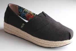 Nuevo Skechers Bobs Mujer Topo o Negro Memoria Foam Alpargatas Cuña Zapatos Nib