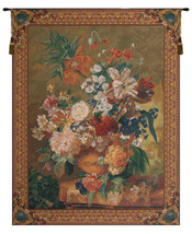 Terracotta Floral Bouquet Gold Belgian Wall Tapestry - £512.55 GBP