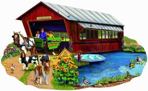 Going to Town 1000pc Shaped Jigsaw Puzzle by Mary Thompson - $29.99