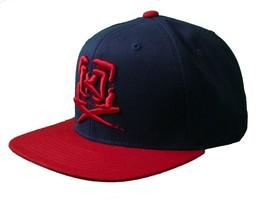 Kr3w krew Skateboarding Navy Blue Red Mark Starter Snapback Baseball Hat Cap NWT image 2