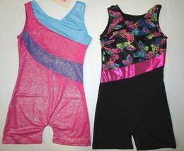 NEW Girl's Biketard Size 6 SC 7-8 MC 10 LC Leotard Unitard Dance Gymnast... - $14.95