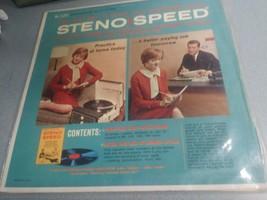 Vintage STENO SPEED LP Vinyl Record with book Dictation Speed Training C... - $5.99