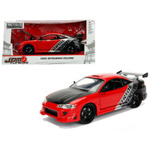1995 Mitsubishi Eclipse \Bride\ Red \JDM Tuners\ 1/24 Diecast Model Car by Jada  - $33.92