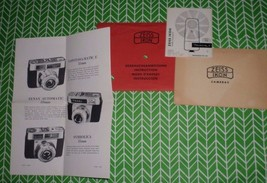 Zeiss Ikon Ikoblitz Instruction Booklet and Papers ONLY Vintage Camera - $4.00