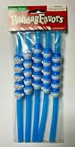 Amscan Holiday Favors Party Straws Blue Snowmen 5 Straws  - $7.99