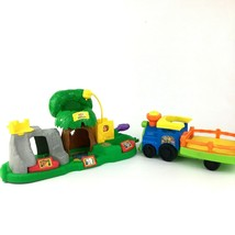 2001 Fisher Price Little People Animal Sounds Zoo and  2014 Zoo Choo Choo Train - $20.56