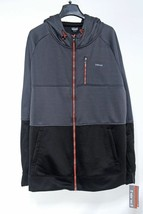 HIND Full Zip Hooded Mens JACKET size M Gray Black/Gray  Polyester, Soli... - $38.60