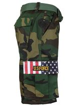 SW Men's US Force Military Army Multi Pocket Camouflage Cargo Shorts with Belt image 3