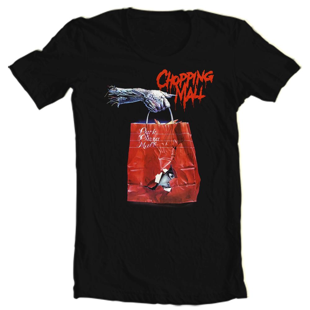 Chopping mall t shirt retro b movie 80 39 s horror slasher for T shirt graphics for sale