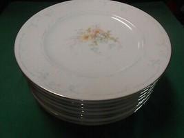 "Beautiful NORITAKE Porcelain ANTICIPATION Ireland 8 BREAD-SALAD Plates-8"" - $49.09"