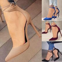 Sexy High Pumps 34-42EU Plus Size Women Summer Bandage Lace-up Stiletto High Hee