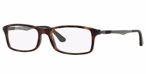 Ray Ban Eyeglasses RB7017 5200 Havana  Rectangular  54mm Frame Plastic