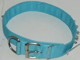 Valhoma 760 S26 TQ Spike Dog Collar Turquoise Double Layer Nylon 26 inches Pkg 1 image 2