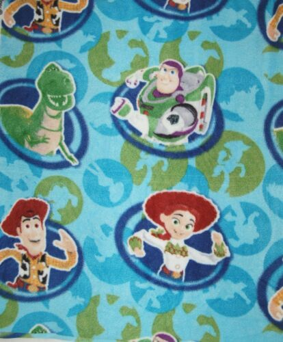 Buzz Lightyear and Gang Character Fleece One Yard Hundred Percent Polyester
