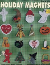 Holiday Magnets Kappie Plastic Canvas PATTERN/INSTRUCTIONS Leaflet RARE - $5.82
