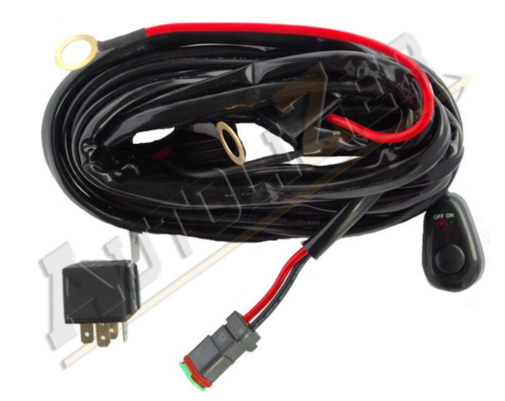 Universal Led Light Bar Wiring Harness Kit 12v 40 Amp Fuse