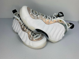 NEW Size 6.5 Men's Nike Air Foamposite ONE WHITE MARBLE Shoes AA3963-101... - $148.49